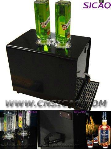 2 Bottles Ice Shot Machine Dispenser Liquor Chiller Cold