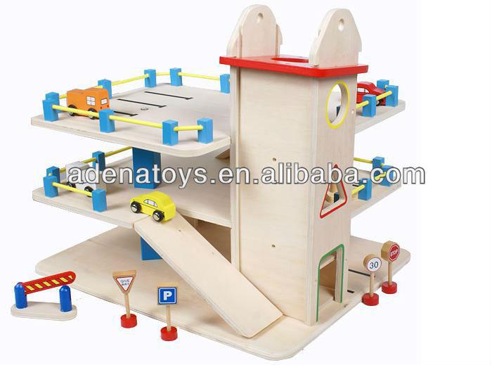 Holz Kinder Bildungs Diy Spielzeug 3 Stockiges Garage Buy Kinder