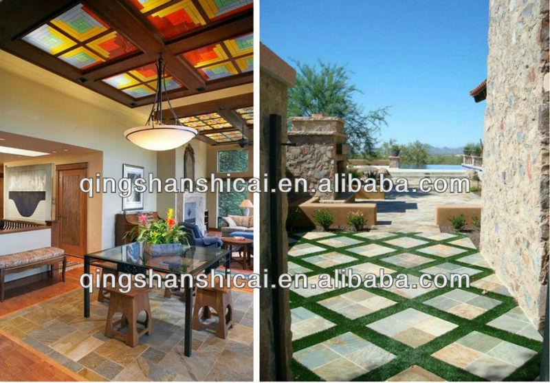 White Gold Slate Pool Patio/Deck Tiles