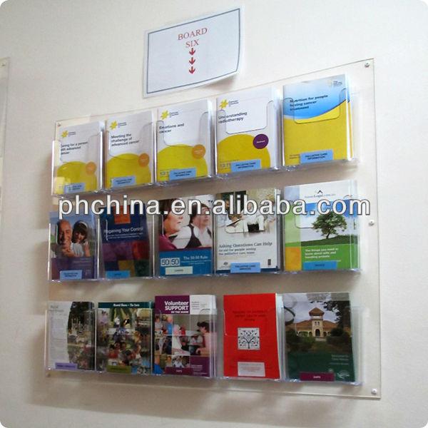 Acrylic Wall Mounted Brochure Holder 4xa4 - Wall Mount Brochure Holder - Best Wall 2017