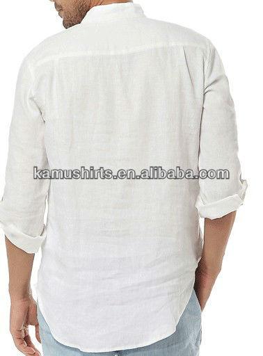 Linnen Overhemd Wit.Lange Mouw Casual Linnen Overhemden Wit Mannen Shirt Buy Linnen