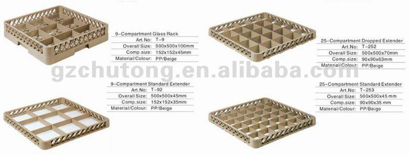 Plastic Dish Rack Basket Washing For Commercial Dishwasher