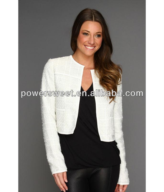 White Short Blazer Jacket | Fashion Ql