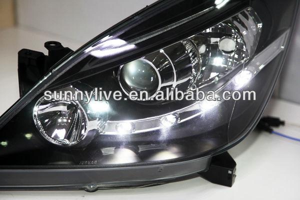 Toyota Innova Led Head Light With Projector Lens Black Housing V1 ...