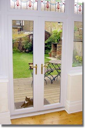 serie pvc puerta abatible con panel de vidrio para puerta del jardn
