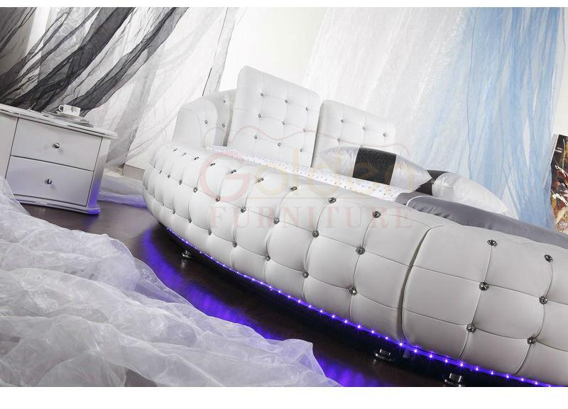 B6821# Foshan Furniture Market Round Platform Bed