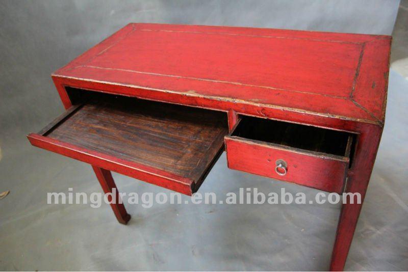 Muebles antiguos chinos de madera de pino rojo mesa de for Muebles antiguos chinos