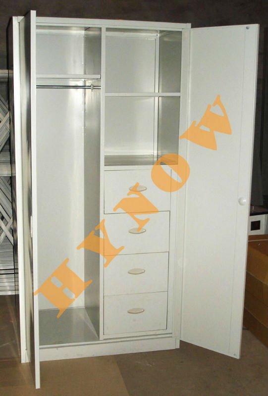 2013 New Design Double Doors Bedroom Steel WardrobeLocker
