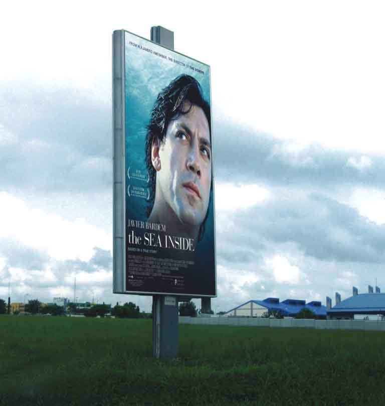 Outdoor Advertising Billboard Display Stand