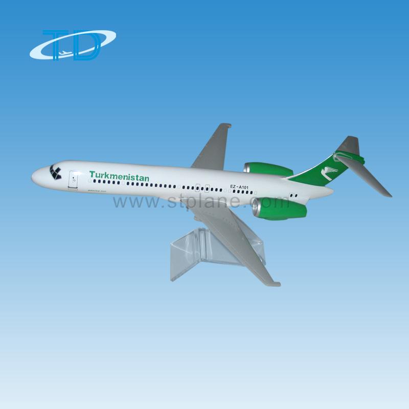 1/100 38.5cm Turkmenistan Boeing 717 Desktop Aviation Cargo Model ...