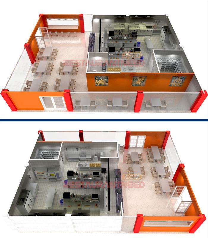 Fast Food Kitchen Layout Plan
