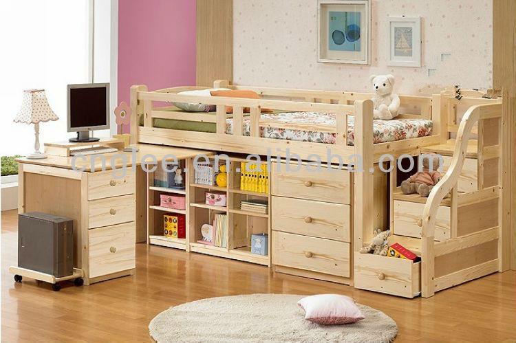 Ni os litera cama de madera buy horizontal camas de la for Literas de madera para ninos