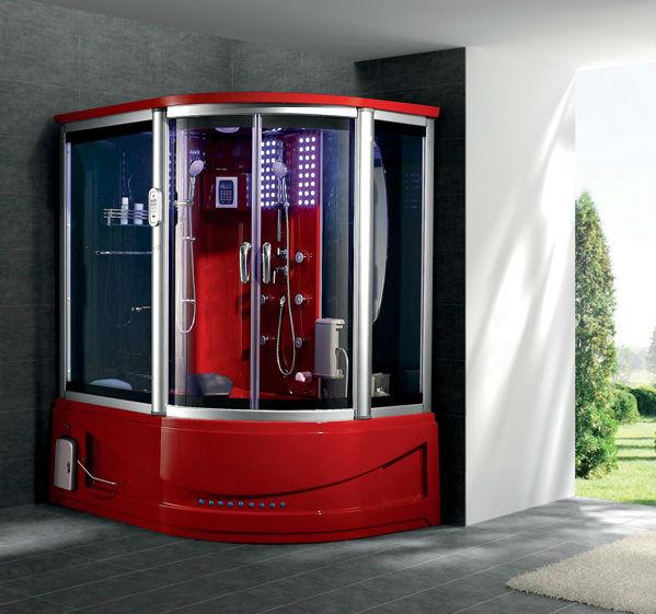 transparent hydro massage shower steam bath cabin