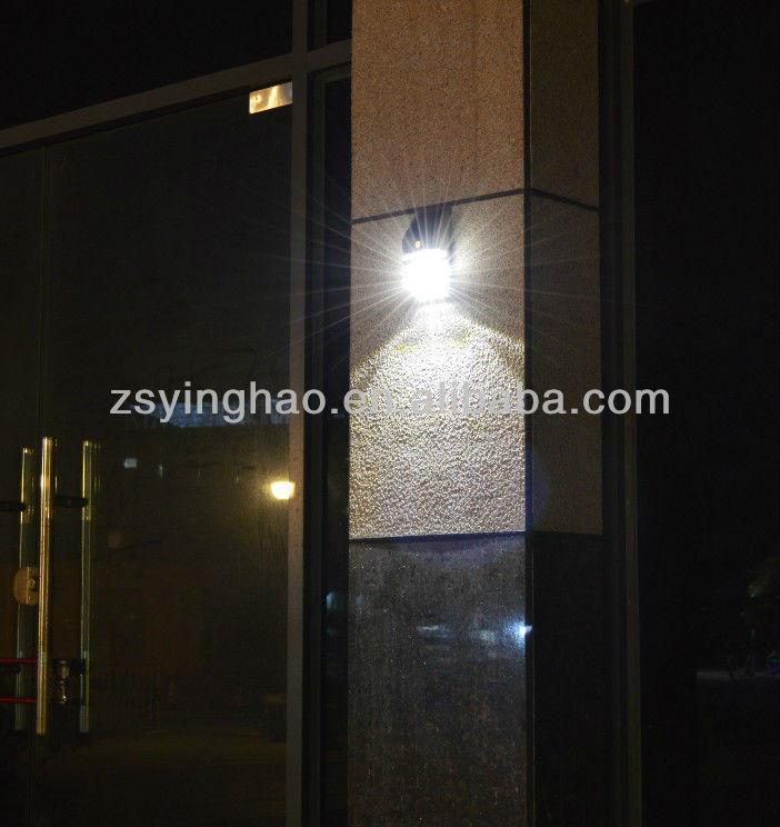 Black Plastic Sun Power Outdoor Wall Light With Motion Sensor Pir ...