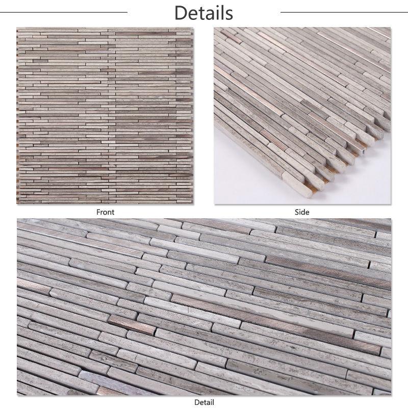 LJO JY,G,112 Premium Grey Strip China Marble Tiles Prices in Pakistan Style