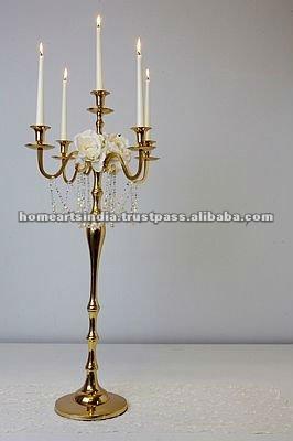 candelabros con chimeneas de vidrio para adornos de oro