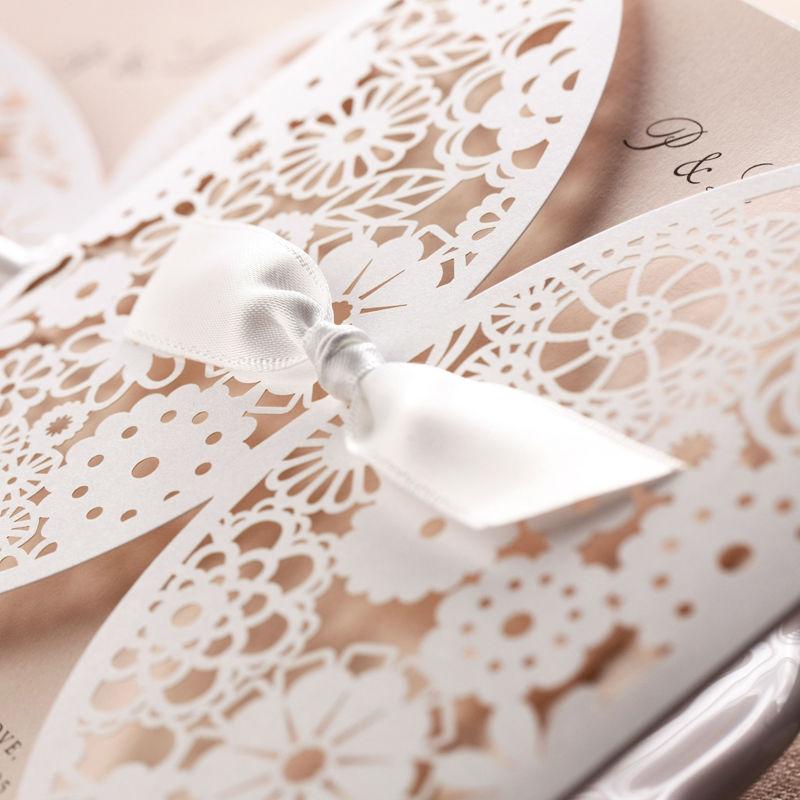 Butterfly Ribbon Wedding Invitation card laser Cut BH2065 View – Butterfly Wedding Invitation Cards