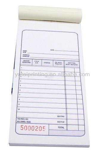 bill book sample