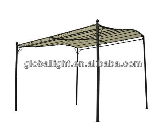 3m x 3m pavillon deluxe baldachin metall wand garten festzelt unterschlupf t r veranda markise. Black Bedroom Furniture Sets. Home Design Ideas