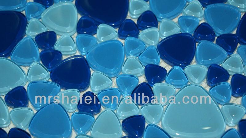 Piastrelle per esterni mosaico in vetro blu per piscina buy