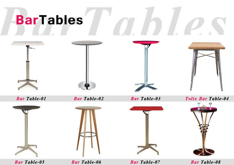 Bt 003 Trumpet Shape Standing Bar Table