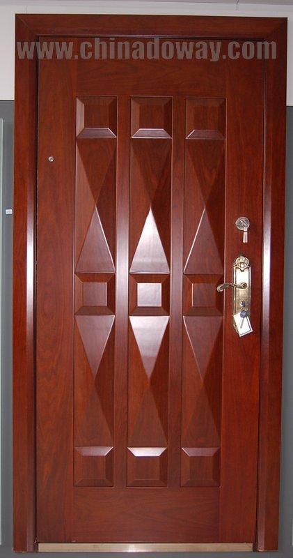 Puerta blindada buy puerta blindada acero madera puerta for Modelos de puertas de madera para puerta principal