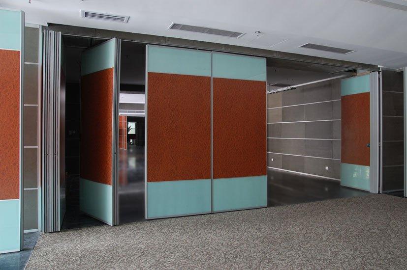 folding partition walls fabric wooden operable sliding door