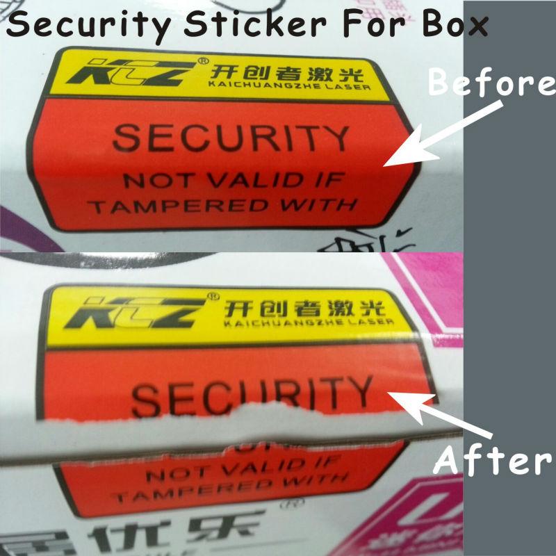 Tamper Evident Destructible Labels For Box Package Sealing