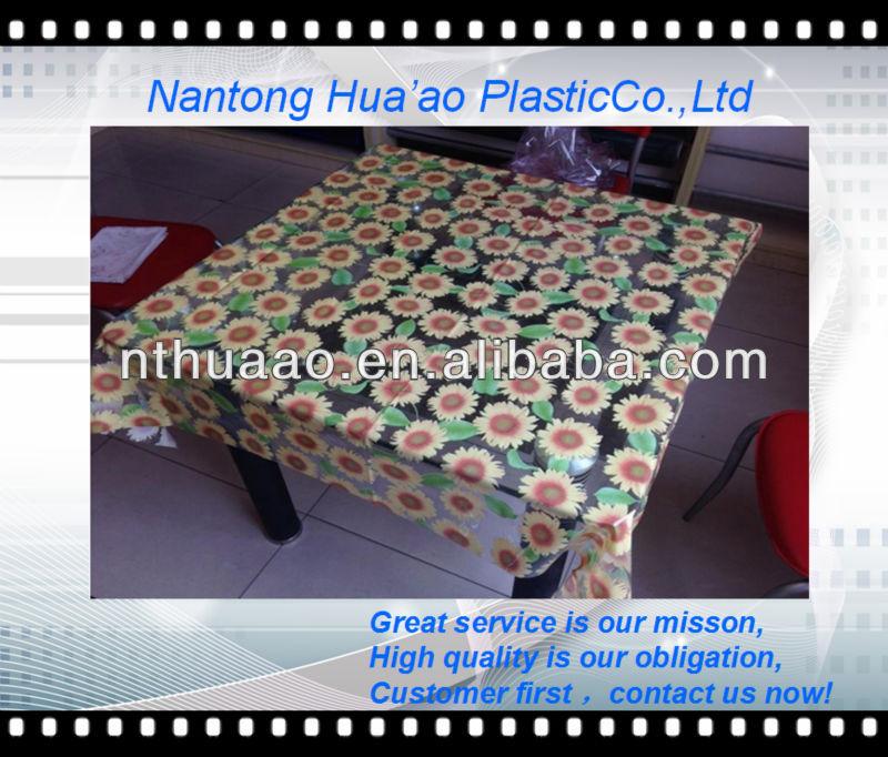 Pvc Printed Tablecloth Plastic Sheeting Table Covers Printing Pvc