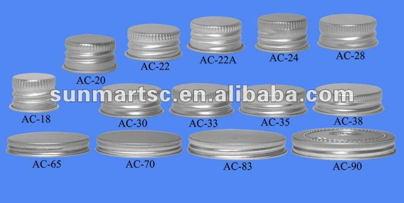 Aluminium Caps Screw Caps Ac Series