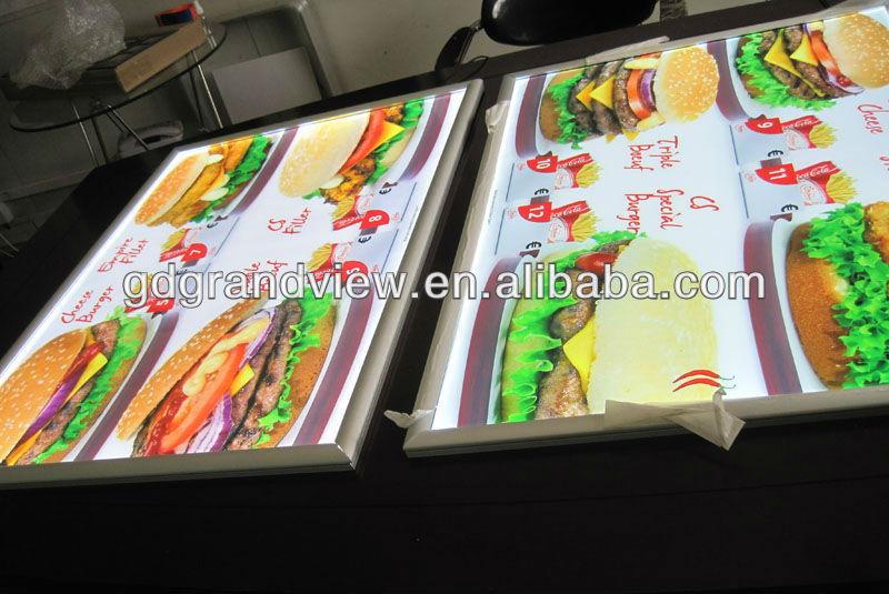 led lighted menu board buy led menu restaurant light board led menu