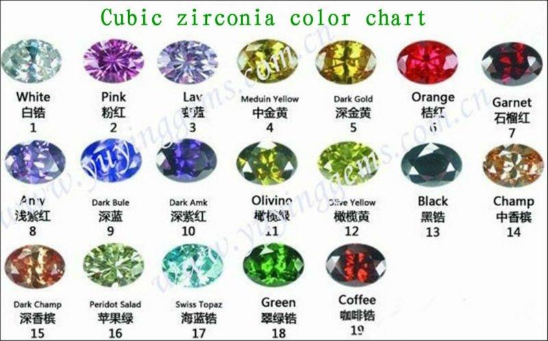 Light Yellow Axe Shape Cubic Zirconia Gemstones