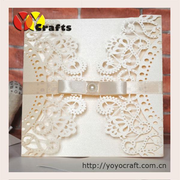 Simple paper folding invitation wedding cardsunique for Wedding invitation paper for sale