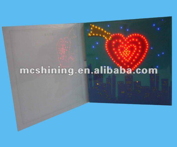 Fiber Optic Led Light Up Greeting Birthday Card