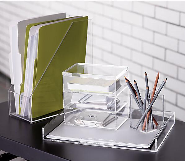 Clear acrylic desk organizer buy clear acrylic desk - Acrylic desk organizer set ...