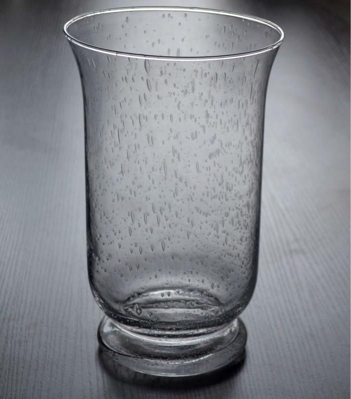 Broken Glass Vase: Clear Tube Broken Glass Flower Vase For Wedding Decor