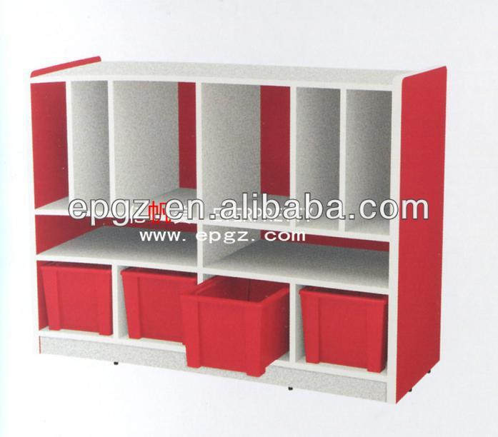 Wooden Kids Classroom Storage Cabinets For Preschool Kindergarten