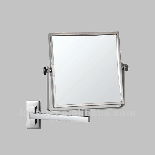 Hotel Bathroom Magnifying Wall Square Extendable Bathroom Wall Mirror