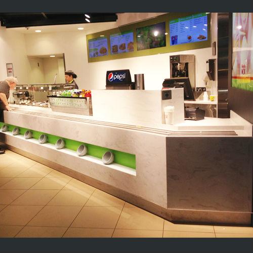 modern bar counter design artificial marble counter for