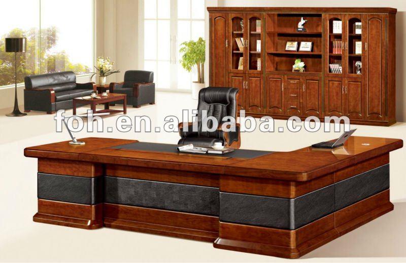 Haut de gamme en bois bureau chef de la direction haut grade