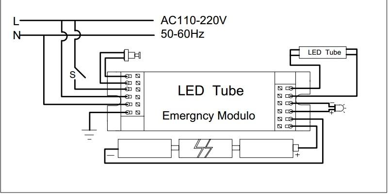 Emergency Light Inverter Module For Led Tube/downligt/panel 8-50w ...