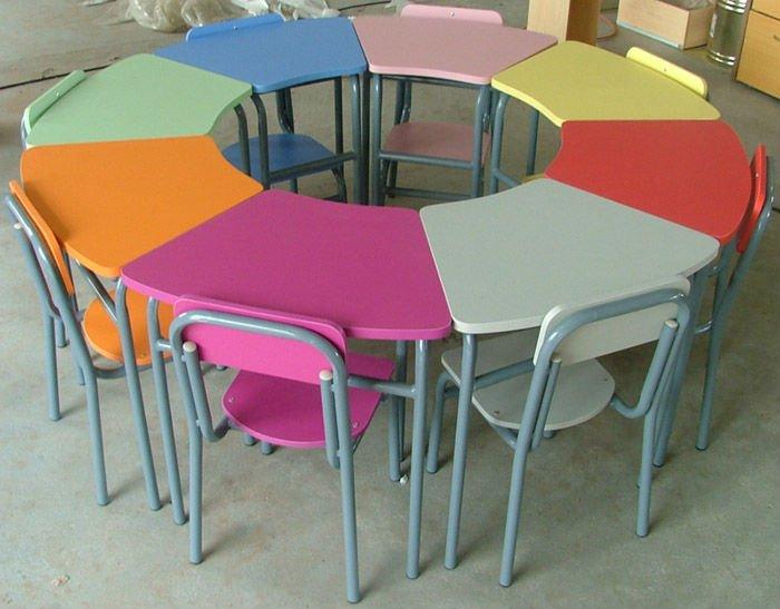 Elementary Children Desk And Chair Preschool Student Table