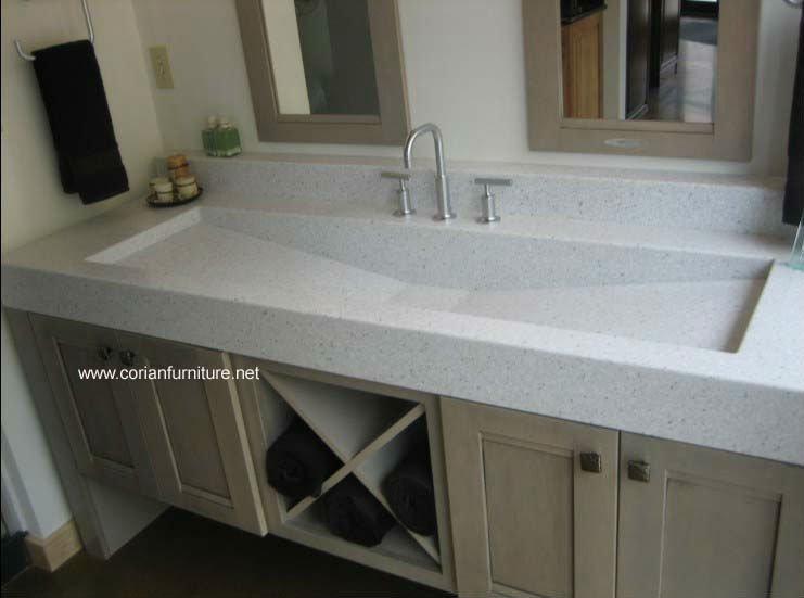 Montelli Solid Surface Bathroom Vanity Top