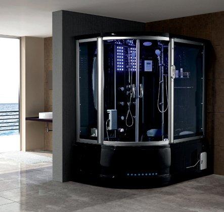 2 person black steam shower room wtvusb port