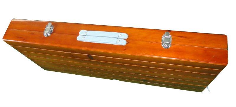 Vouwen portabe houten camping tafel met 4 stoelen buy for Patas de mesa plegables