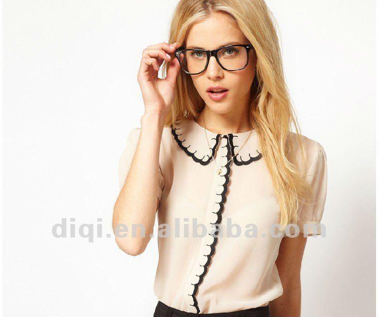 bbb339b15c Modelos de blusas de tecido em chiffon 2013 verão para jovens senhoras