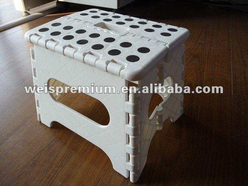 Cute And Popular Mini Portable Plastic Folding Step Stool