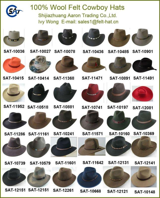 100% wool felt Frontier Western hat 0ef4109e47c7