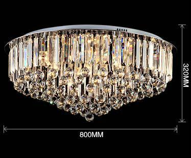 Modern crystal ceiling lamp led crystal ball ceiling light for Deckenleuchten wohnzimmer modern led