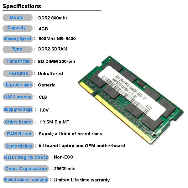 Ram Price >> Offer Oem Brand Sticker Ddr2 4gb Ddr4 Ram Price With Ett Chips